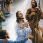 The Father's voice spoke at the baptism of Jesus (Table of Contents)