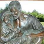 Saint Joseph protected Mary and Baby Jesus