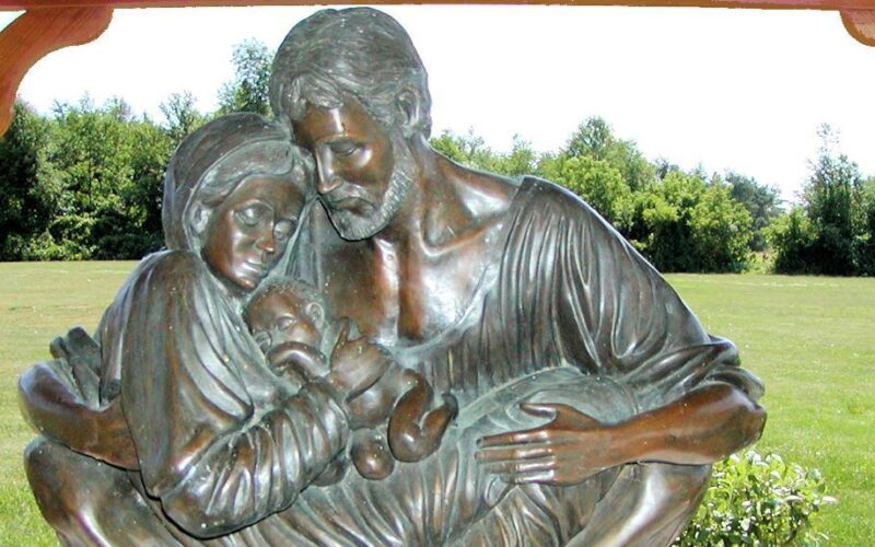 the Holy Family protected by Saint Joseph
